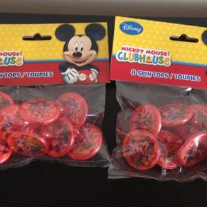 Disneys Mickey Mouse Party Favors Spin Tops 2 pack